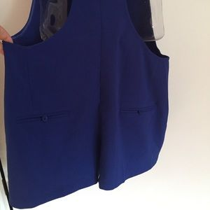 Adorable overall coverall romper in royal blue